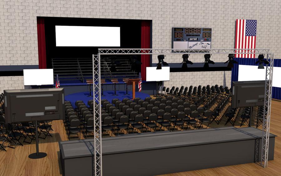 гимнастический зал royalty-free 3d model - Preview no. 3