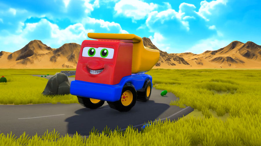 Truck Cartoon Toy Vehicle royalty-free 3d model - Preview no. 10