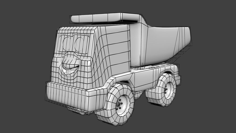 Truck Cartoon Toy Vehicle royalty-free 3d model - Preview no. 5