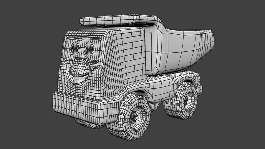 Truck Cartoon Toy Vehicle royalty-free 3d model - Preview no. 6