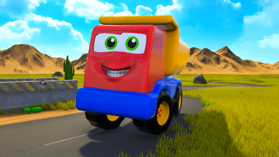 Truck Cartoon Toy Vehicle royalty-free 3d model - Preview no. 9