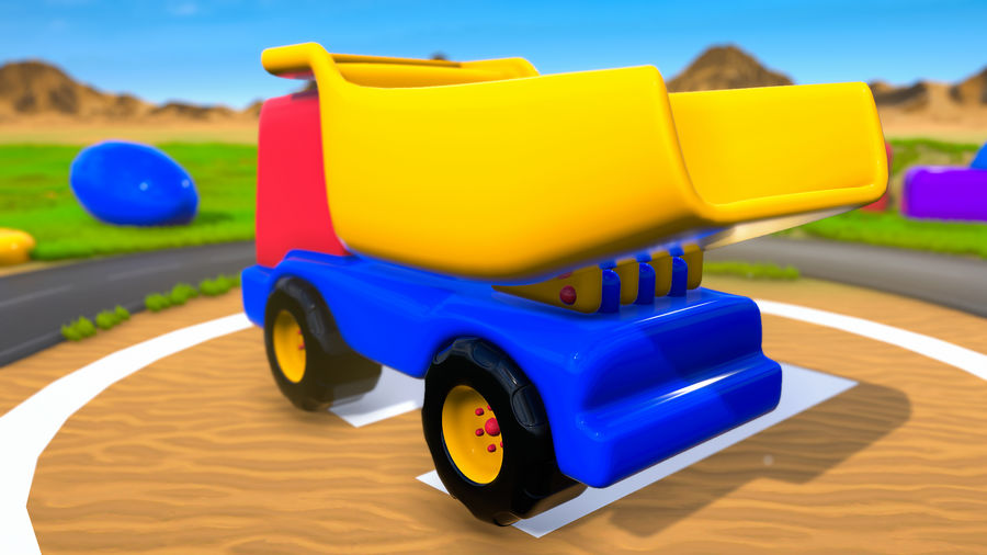 Truck Cartoon Toy Vehicle royalty-free 3d model - Preview no. 4