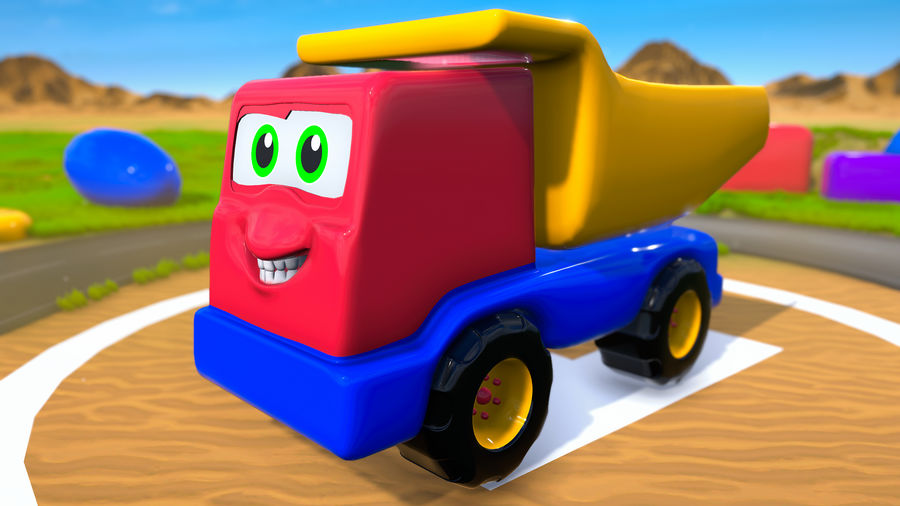Truck Cartoon Toy Vehicle royalty-free 3d model - Preview no. 1