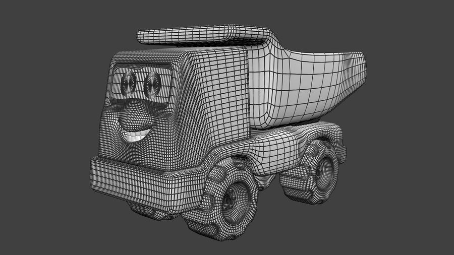 Truck Cartoon Toy Vehicle royalty-free 3d model - Preview no. 7