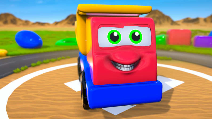 Truck Cartoon Toy Vehicle royalty-free 3d model - Preview no. 2