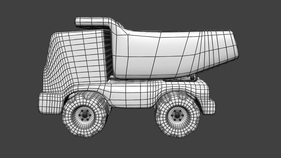 Truck Cartoon Toy Vehicle royalty-free 3d model - Preview no. 8