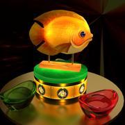 中国の金の魚 3d model
