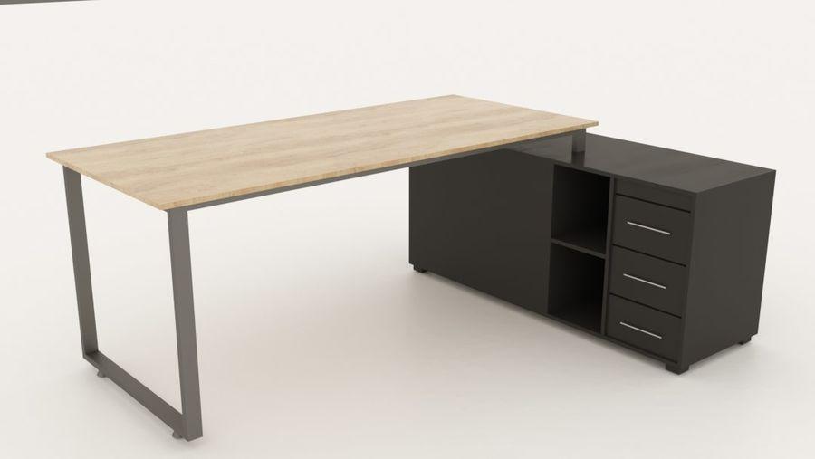 Diseño de oficina minimalista de lujo royalty-free modelo 3d - Preview no. 3
