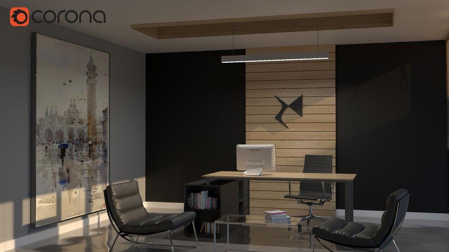 Diseño de oficina minimalista de lujo royalty-free modelo 3d - Preview no. 1