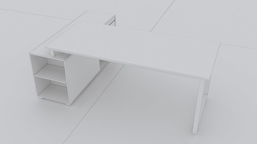 Diseño de oficina minimalista de lujo royalty-free modelo 3d - Preview no. 4