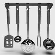 Rostfritt stål redskapsset 3d model