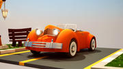 cartoon auto 3d model