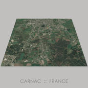 Carnac Megalithic Site Area Terrain 3d model