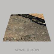 Aswan Megalithic Quarry Area Terrain 3d model