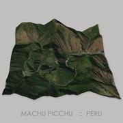 Machu Picchu Megalithic Site Terrain 3d model
