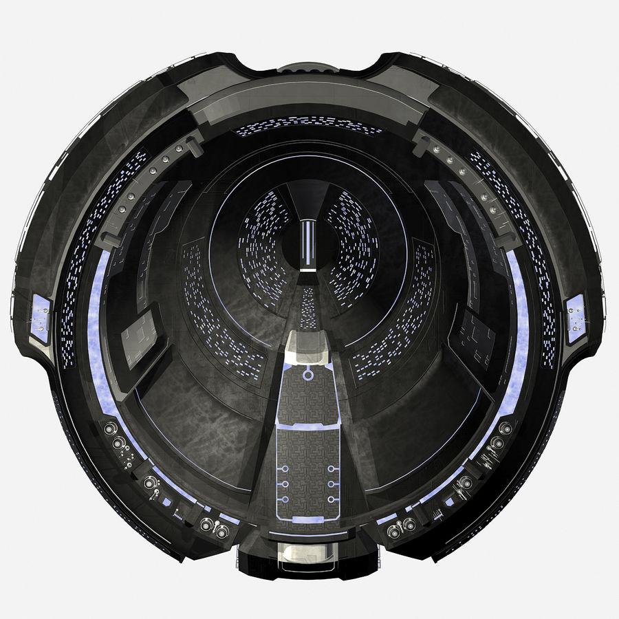Sci Fi Spaceship Battleship Cruiser - Round Sci-Fi Mothership royalty-free 3d model - Preview no. 6