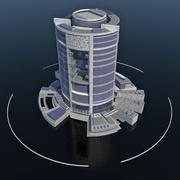 Ecopolis - Ocean City Ship Harbor Complex - Futuristic Floating Building 3d model