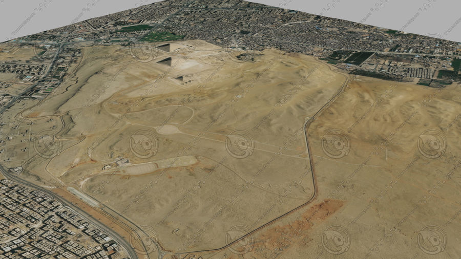 Terreno del área de la meseta de Giza royalty-free modelo 3d - Preview no. 4