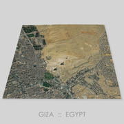 Giza Plateau Area Terrain 3d model