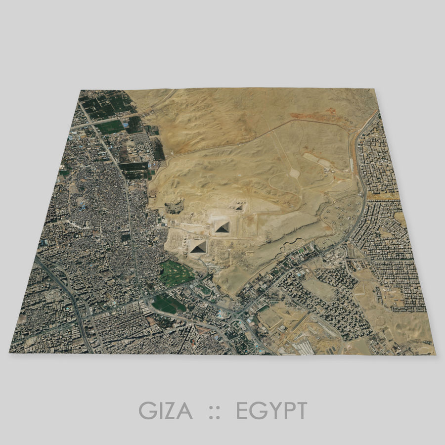 Terreno del área de la meseta de Giza royalty-free modelo 3d - Preview no. 1