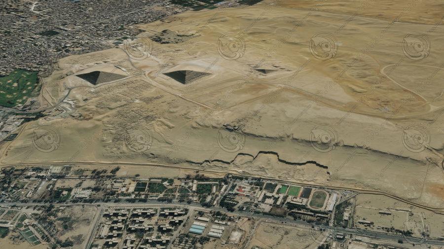 Terreno del área de la meseta de Giza royalty-free modelo 3d - Preview no. 8