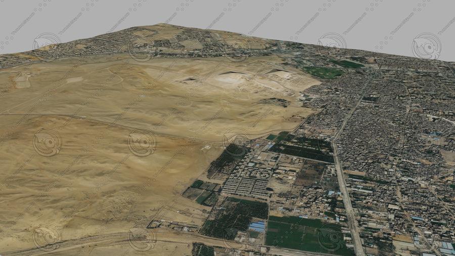 Terreno del área de la meseta de Giza royalty-free modelo 3d - Preview no. 5