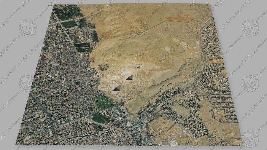 Terreno del área de la meseta de Giza royalty-free modelo 3d - Preview no. 2