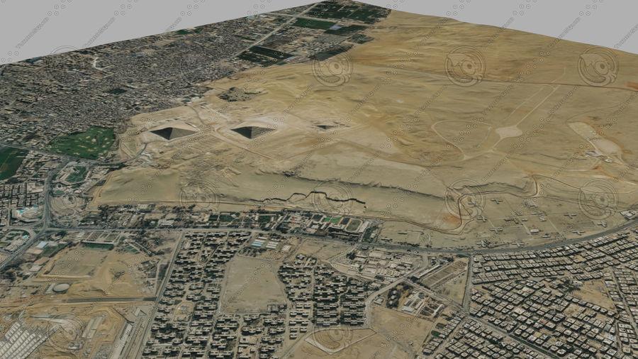 Terreno del área de la meseta de Giza royalty-free modelo 3d - Preview no. 3