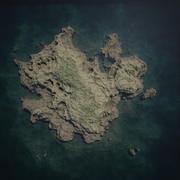 Simple Island 3d model