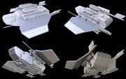 Navire de débarquement léger 3d model