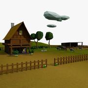 Scena z kreskówki 1 3d model