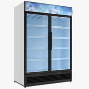 Display Refrigerator Double Door 3d model