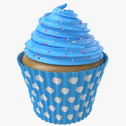 Cupcake With Spheres 3d model