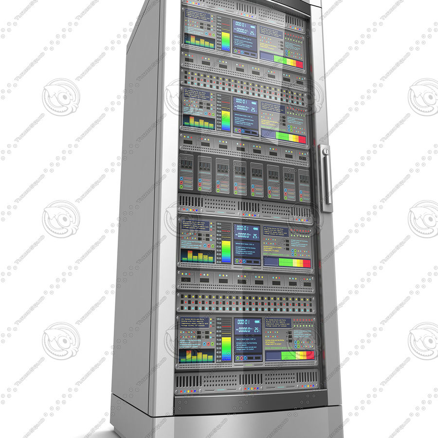 Network servers royalty-free 3d model - Preview no. 9