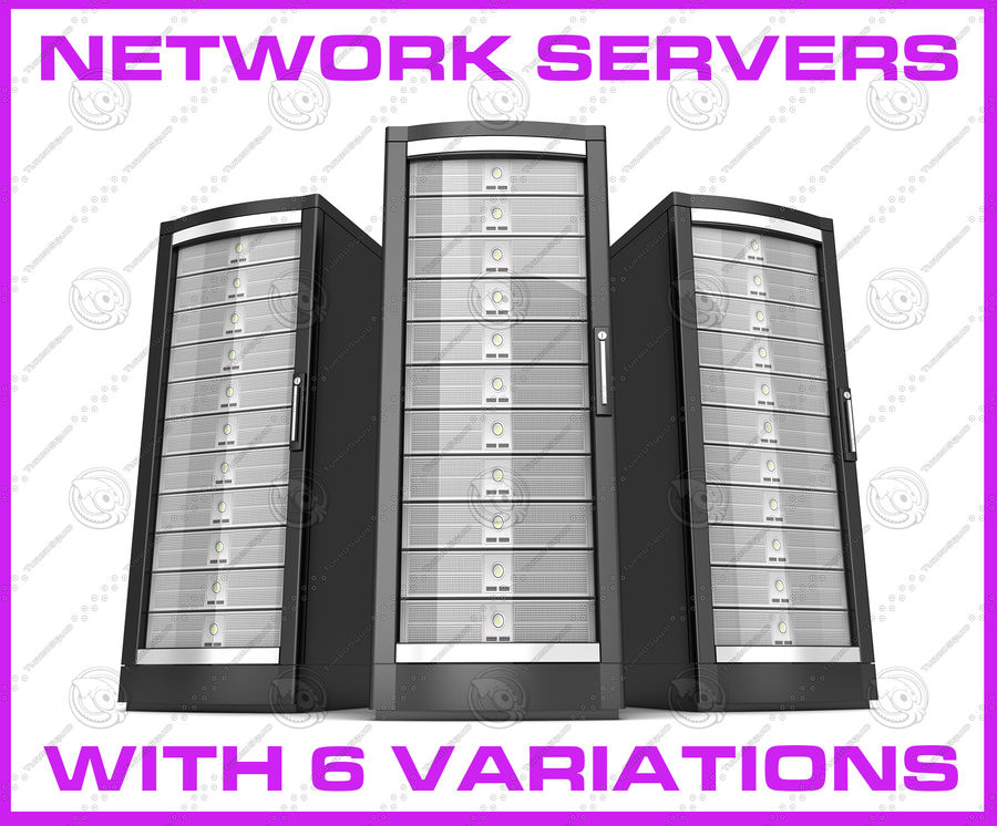 Network servers royalty-free 3d model - Preview no. 1