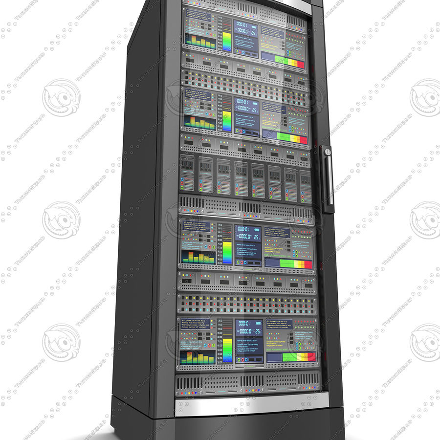 Network servers royalty-free 3d model - Preview no. 6