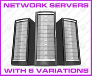 Network servers 3d model