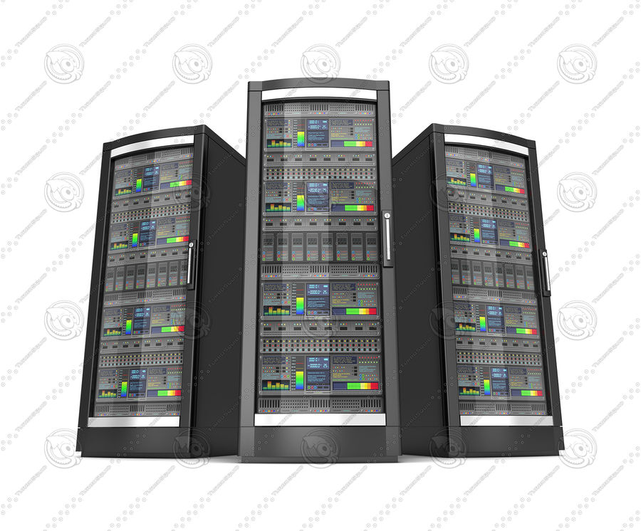 Network servers royalty-free 3d model - Preview no. 4