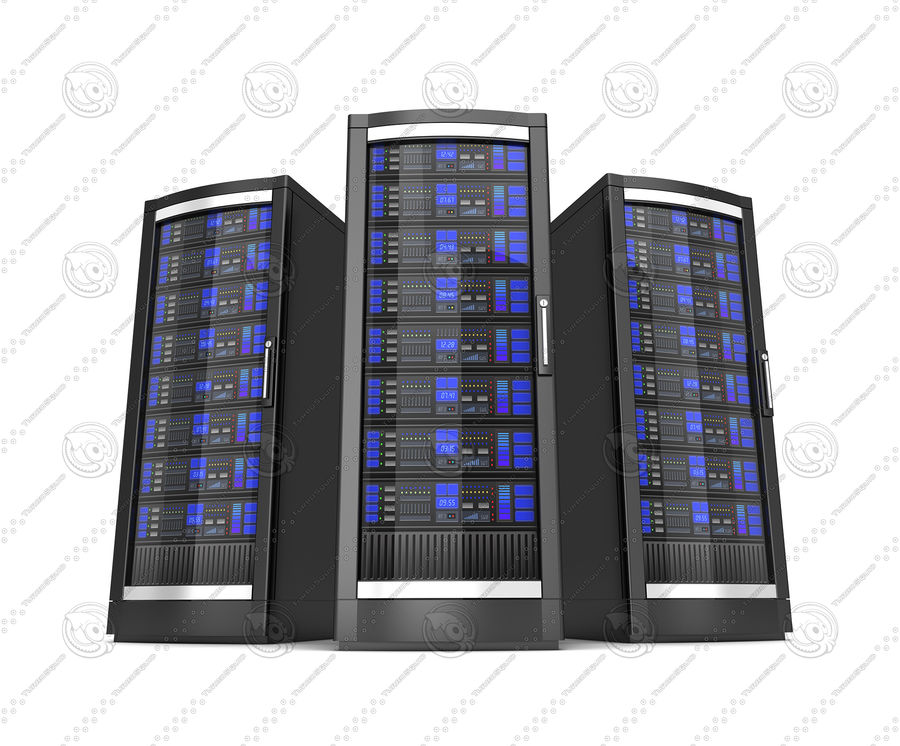 Network servers royalty-free 3d model - Preview no. 3