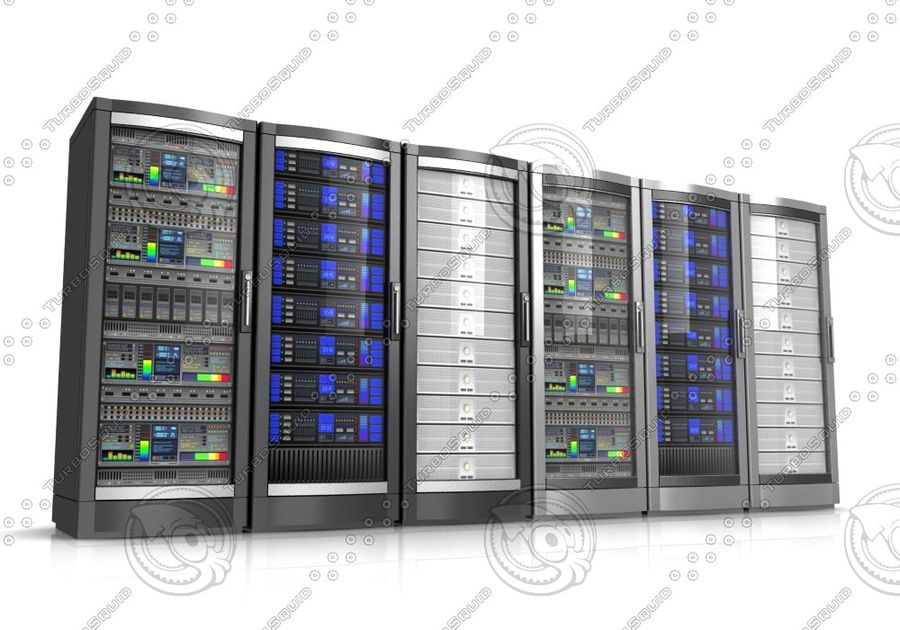 Serwery sieciowe royalty-free 3d model - Preview no. 2