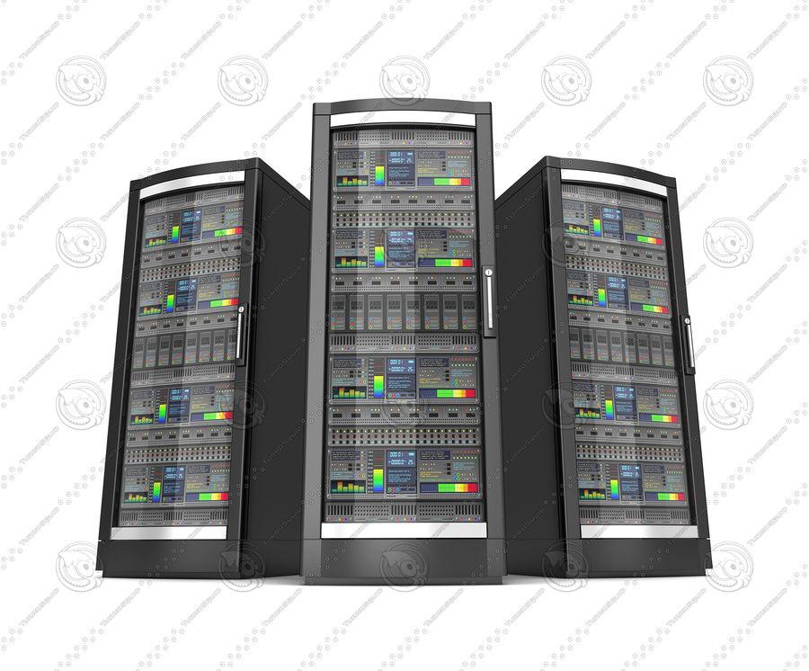 Serwery sieciowe royalty-free 3d model - Preview no. 4