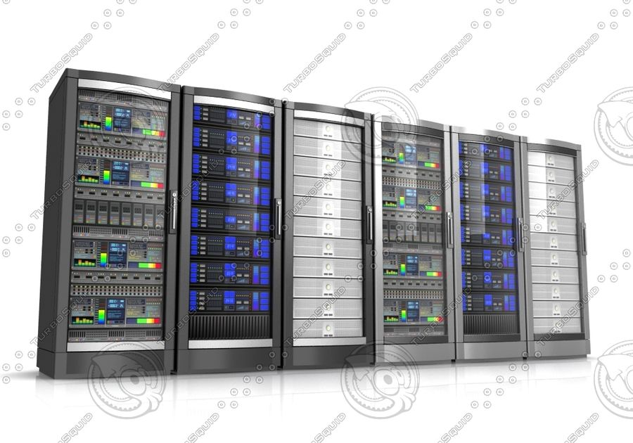Network servers royalty-free 3d model - Preview no. 2