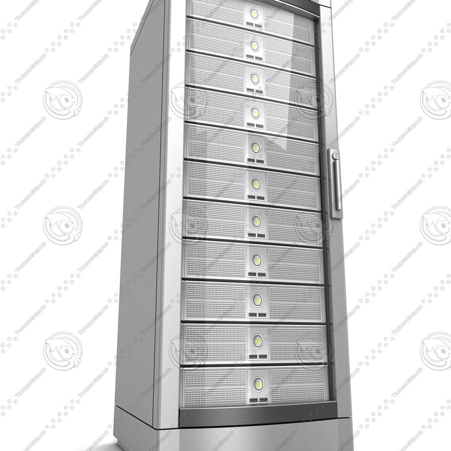 Network servers royalty-free 3d model - Preview no. 11