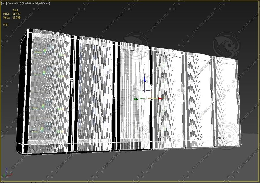 Network servers royalty-free 3d model - Preview no. 5