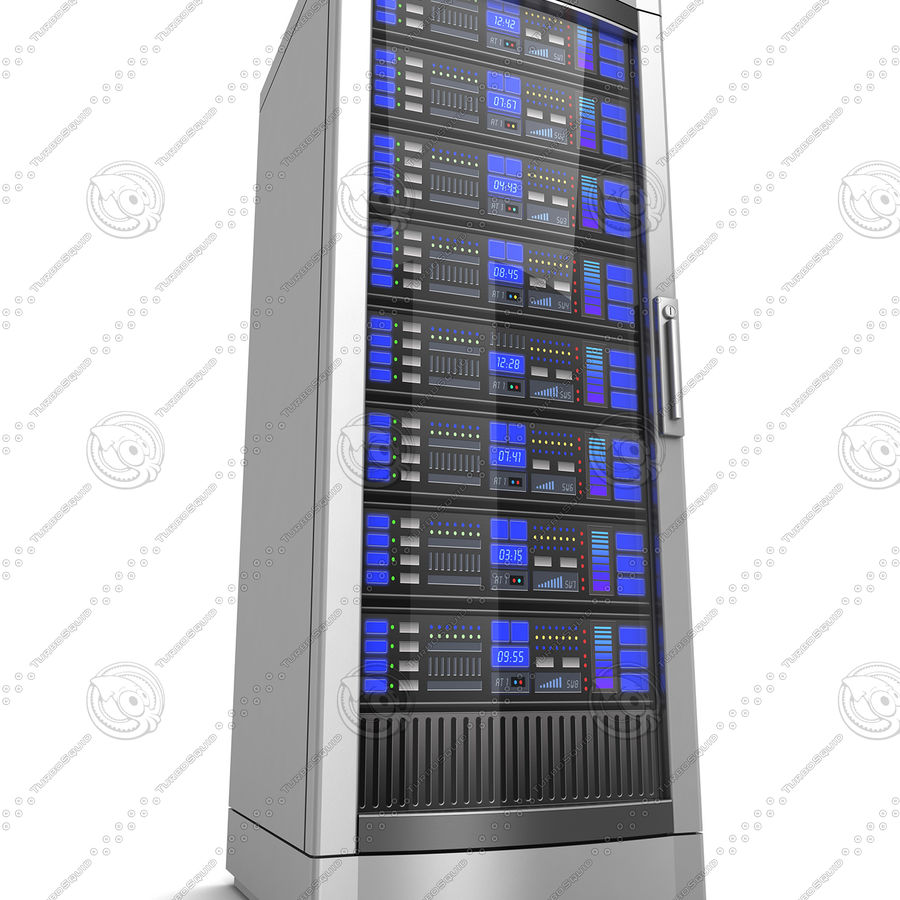 Network servers royalty-free 3d model - Preview no. 10
