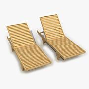 의자 라운지 3d model