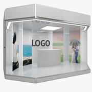 Stand d'exposition 3d model