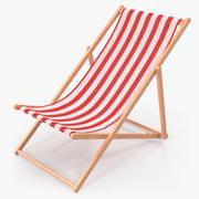 Classic Beach Klappstuhl 3D-Modell 3d model