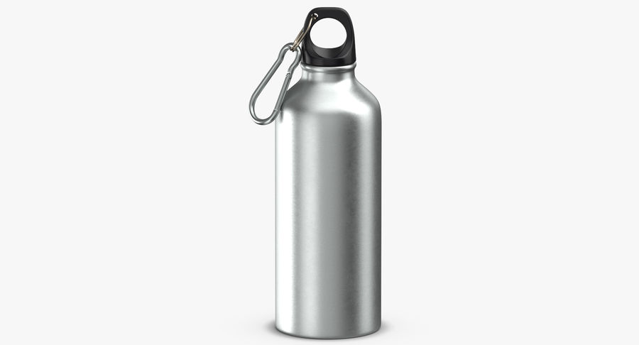 Aluminium Bottle Size 01 royalty-free 3d model - Preview no. 3