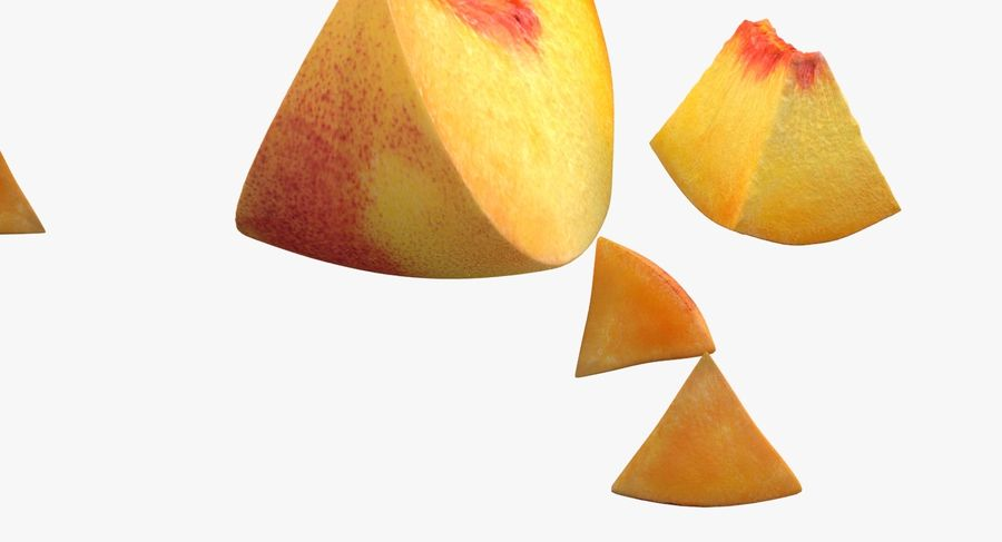 Peach Slice royalty-free 3d model - Preview no. 8